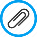 attach, attached, attachment, element, fastener, paper clip, paperclip icon