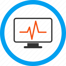 cardiogram, display, graph, heartbeat, monitor, pulse monitoring, screen icon