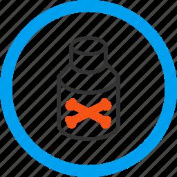 bottle, chemistry, danger, pharmacy, poison, toxic, vial icon
