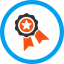 achievement, award, best, prize, quality seal, reward, trophy icon