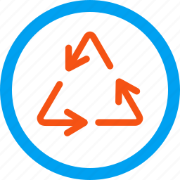 cycle, environment protection, recycle arrows, recycling, refresh, rotate, rotation icon