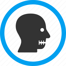 avatar, face, head, man, person, profile, sewn mouth icon