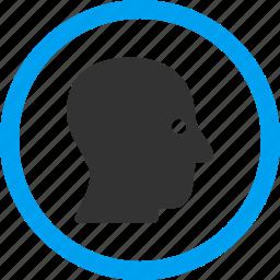 avatar, client profile, face, man, person, silent head, user account icon