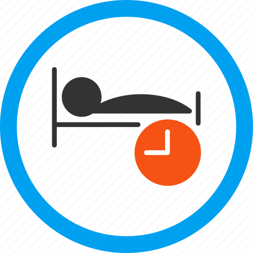 bed, clock, dream, hotel, night, schedule, sleep time icon