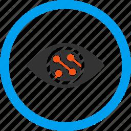 camera, contact lens, digital, electronics, smart lens, technology, view icon