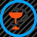 ambulance, health, healthcare, hospital, medical, medicine, snake cup icon