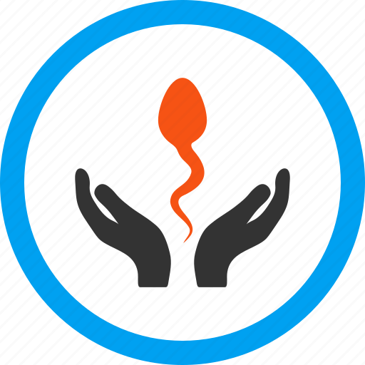 care hands, creation, fertilization, microbes, sperm, spermatozoon, supervision icon