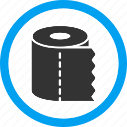 hygiene, lavatery, reel, restroom, roll, toilet paper, wc icon