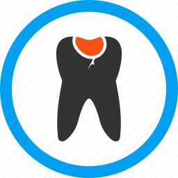 damage, dent, dental, dentistry, sick, teeth, tooth caries icon