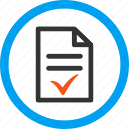 accept, approved, choice, mark, ok, success, valid document icon