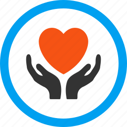 care, charity hands, heart, help, love, maintenance, support icon