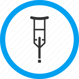 assistance, crutch, disability, disabled, handicap, medical support, therapy icon