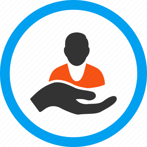 assistance, careful, hand, insurance, palm, patient, support icon