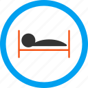 hospital, hotel, illness, patient bed, sick, speep, treatment icon
