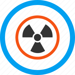 atomic power, attention, caution, danger, nuclear physics, radiation, safety icon