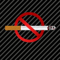 bad health, cancer, cigerette, habit, no, smoking, stop icon