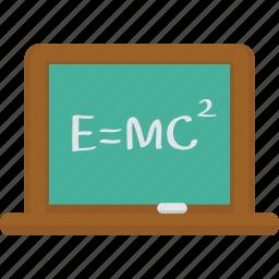 board, chalk, chalk board, chemistry, e=mc², formula, science, scientist icon