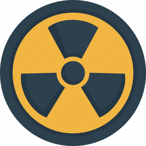 danger, dangerous, nuclear, radioactive icon