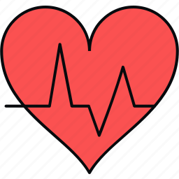 ecg, health, heart, lines, pulse icon