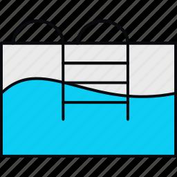 pool, swim, swimming, swimming pool, water icon