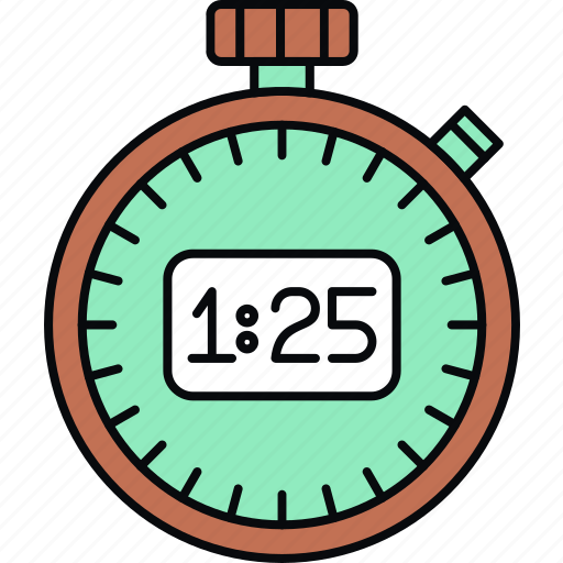 stopwatch, timepiece, timer icon