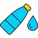 bottle, drop, water icon