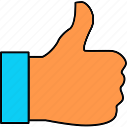 gesture, hand, like, thumbs up, up icon