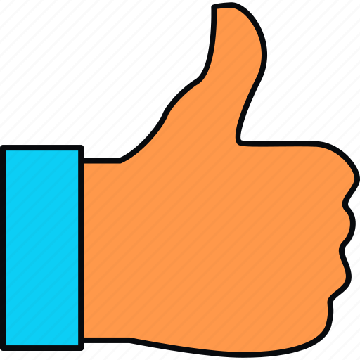 Like, gesture, hand, thumbs up, up icon - Download on Iconfinder