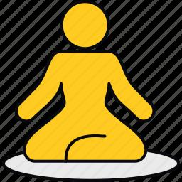 fitness, meditation, relaxation, spa, yoga icon