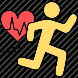 heart, heartbeat, pulsation, pulse icon