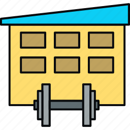dumbbell, gym, health icon
