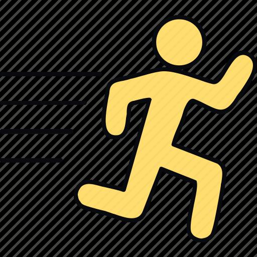 exercise, fitness, gym, jog, jogging, run, running icon