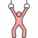 exercise, exercising, fitness, gym, muscles, weightlifting icon