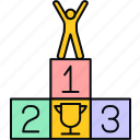 achievement, best, top, win, winner icon