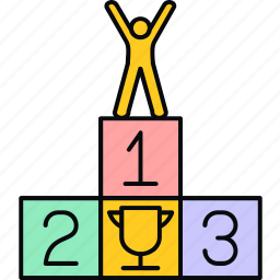 achievement, best, top, win, winner icon