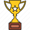 aim, goal, mission, prize, trophy, win icon