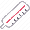 fever, medical, temperature, thermometer, tools icon