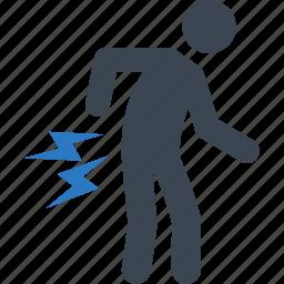 back pain, chronic pain, ilness icon