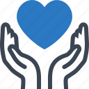 health insurance, heart health, heart protection icon