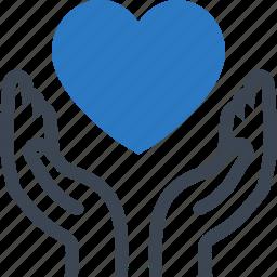 health insurance, heart health, heart protection icon