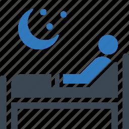 insomnia, sleep problems, staying asleep icon