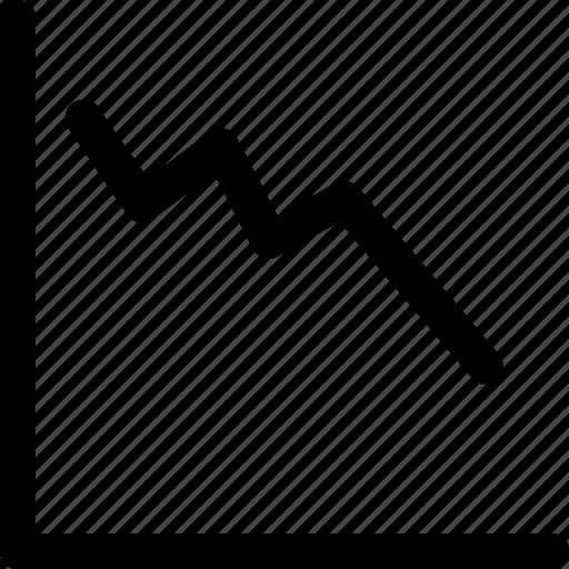 down, fitness, graph, graph down icon icon