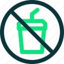 drink not allowed, forbidden, glass, no beverage, no drink, prohibition icon icon