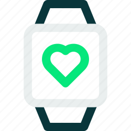 colored, excercise, health, heartbeat, sport, watch icon icon