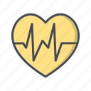 beat, care, health, heart icon