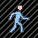 man, running, walk, walking icon
