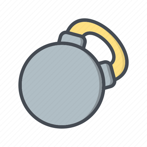 fitness, kettlebell, training, weight icon