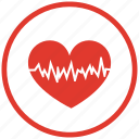 health, heart, heartbeat, pulse icon