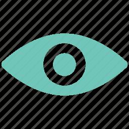 eye, human eye, view, watch icon