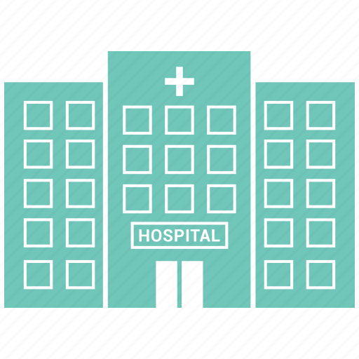building, cross, hospital, medical icon